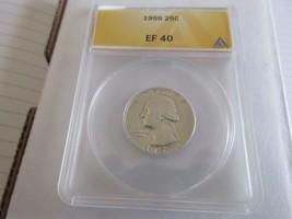 1955 , Washington Quarter , EF 40 , Anacs - $13.00