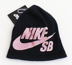 Nike SB Black & Red Knit Beanie Skull Cap Youth Boy's 8-20 NWT - $20.04