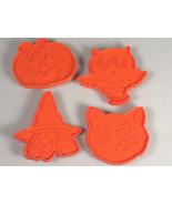 Halloween Cookie cutters Witch, Owl,Cat, Pumpkin Vintage Hallmark orange... - $5.95+