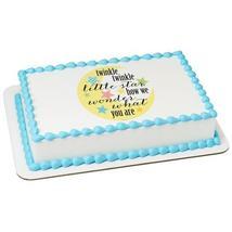 Twinkle Moon & Stars Edible Cake Topper Image - $9.99+