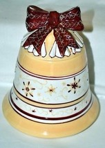 "Villeroy & Boch Christmas Toy's Fantasy 7.5"" Beige Bell with Lid #5712 - $34.95"