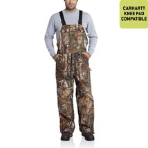 Carhartt Quilt Lined Camo Bib Overalls - $155.09