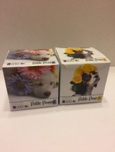 Petite Paws Puzzle Lot Of 2 Dogs Flowers 100 Pieces Jigsaw Sealed - $8.59