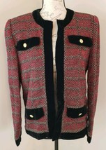 Castleberry Size 8 Open Front Vintage Christmas Red Green USA Made Jacke... - $37.99