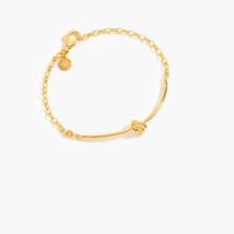 NWT J. Crew Women's Demi-Fine 14k Gold-Plated Knot Bracelet - Gold - $36.83