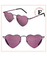 SAINT LAURENT LOULOU 301 YSL SL301 Pink Heart Metal Sunglasses Unisex 00... - $274.73