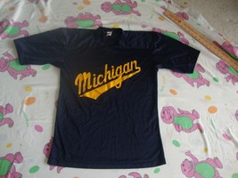 Vintage NCAA Michigan Wolverines Navy Blue Jersey Adult size M - $17.81