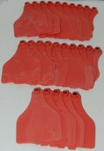 Destron Fearing DuFlex Visual ID Livestock Panel Tags XL Red Blank 25 Sets image 5