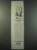 1930 Great Western and Southern Railways of England Ad - Wales is the co... - $14.99