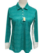 Adidas Golf Polo Women's Aqua/White Long Sleeve with Climacool Activewea... - $35.54