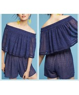 Anthropologie Tiered Eyelet Off-The-Shoulder Romper  by Ranna Gill $148 ... - $54.99