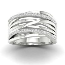 IGI Certified 10k Gold 0.33Ct TDW Diamond Crossover Promise Ring - $609.99