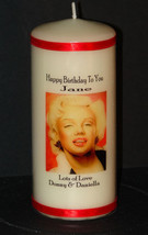 Cellini Candles Unique Marilyn Monroe Personalised Occasion Birthday  Un... - $18.80