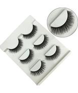 FOND Black Long Thick False Eyelashes Natural 3D Eye Lashes Cross Fashi... - $19.85