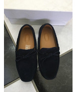 NIB 100% AUTH Gucci Classic Boys Blue Suede Driver Loafer $280 - $156.42