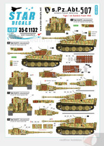 Star Decals 1/35 s.Pz.Abt. 507. Tiger I on the Eastern Front 1944 decals - $9.77