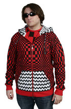 UGP Under Ground Products DIY Men's Red Checkered Zip Up Hoodie NWT image 3