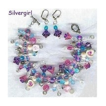Flower Garden Loaded Charm Bracelet and Earring Set - $55.99