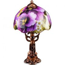 DOLLHOUSE Pansy Floral Shade Table Lamp 1.871/6 Reutter Miniature - $17.80