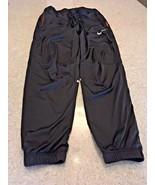 Men's Nike Dri-Fit Black/Orange Running Pants (S) #56323 - $23.38