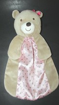 Carters Just One You Baby Security Blanket Monkey Rattle brown tan pink ... - $29.69