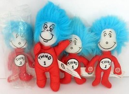 4 Kellogg's The Cat In The Hat Movie Thing 1 And Thing 2 Miniature Plush... - $7.92