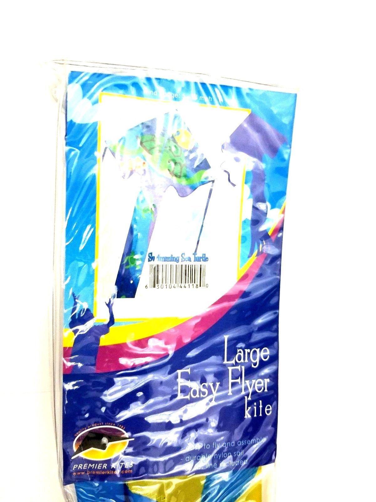 "Premier Kites & Designs Large Easy Flyer Swimming Sea Turtle Kite 46x90"" inch"