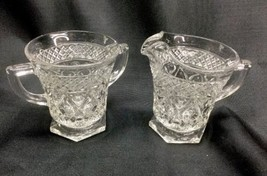 Imperial Glass Cape Cod Clear Creamer and Open Sugar Two Matched Pieces - $14.84