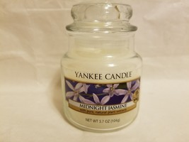 "NEW YANKEE SMALL JAR CANDLE ""MIDNIGHT JASMINE"" 3.7 OZ.  NATURAL PLANT EX... - $19.89"