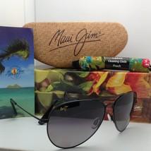 Polarized MAUI JIM Titanium Sunglasses MAVERICKS GS 264-02 Black Frame Grey Lens