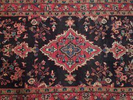 Tribal Wide Gallery Runner Persian Genuine Handmade 4x10 Black Sarouk Wool Rug image 6