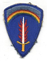 Vintage USAEUR U.S. Army Europe Flaming Sword Of Freedom Cut Edge Patch - $8.00