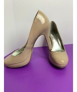 "Style & Co Tarah Pumps Size 7M 4"" High Heels Glossy Women's Shoes Nude B... - $24.74"