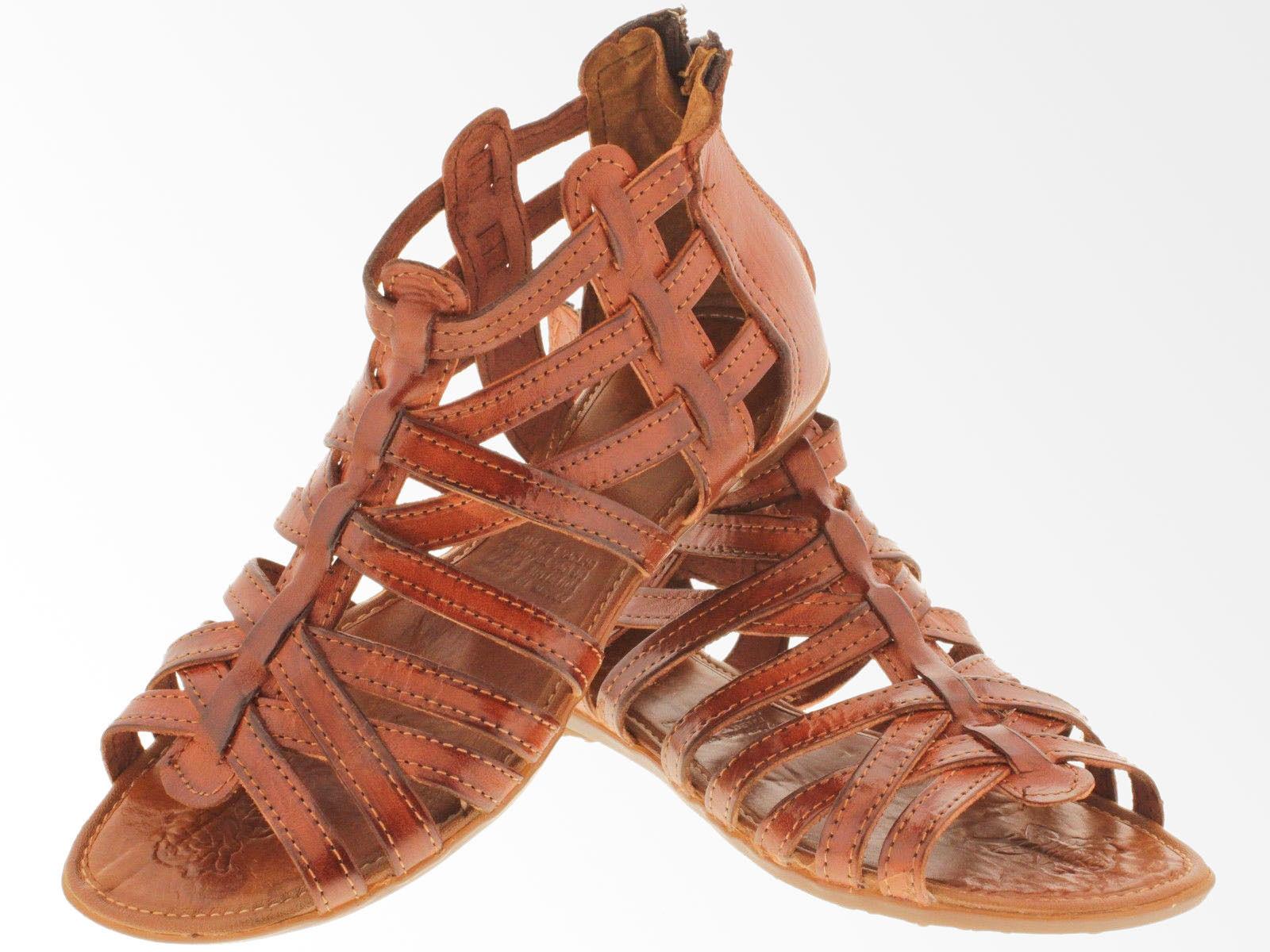 4b68c1e4be86d Womens Cognac Huaraches Boho Gladiator and 50 similar items. S l1600