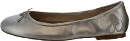 Sam Edelman Leather Ballet Flats Felicia Soft Silver 8W NEW A368654 - $56.41