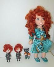 DISNEY Princess Merida Brave DOLL + transforming triplets dolls figures ... - $26.72