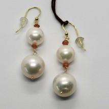 Ohrringe aus Gold Gelb 18K 750 Perlen Wasser Dolce Quarz Citrin Made in Italien image 1