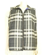 Ralph Lauren vest 2X black white gray check puffer zipper front and pock... - $49.49