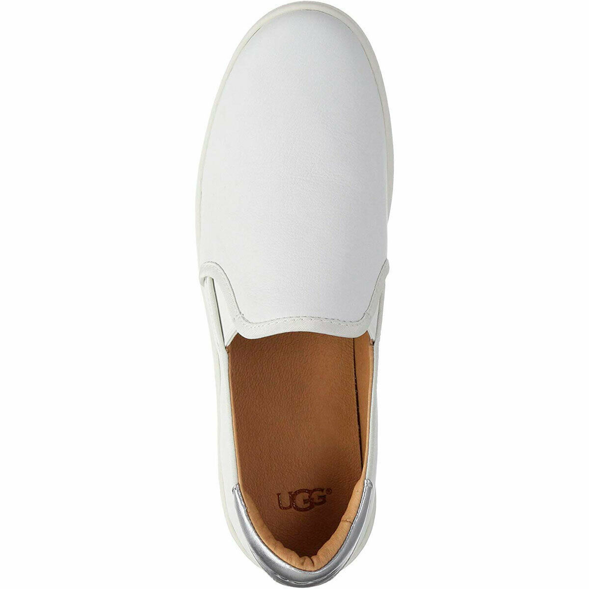 UGG Women's Cas Slip-on Fashion Sneakers White 5.5 M MSRP 100 New image 5