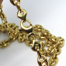18K YELLOW GOLD SOLID MARINER CHAIN BIG 6 MM, 20 INCHES, ANCHOR ROUNDED NECKLACE image 2
