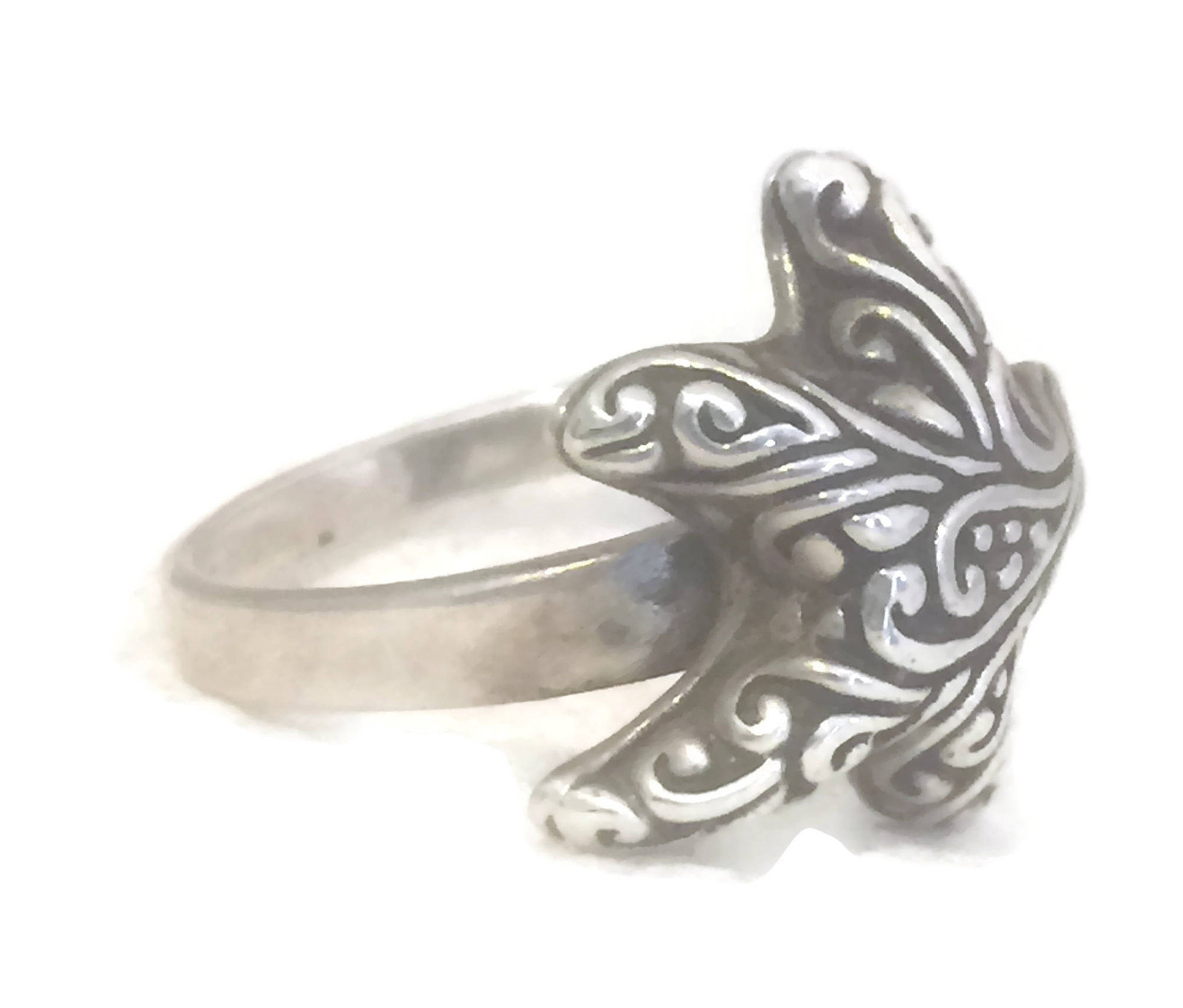 Vintage Starfish Sterling Silver Star Southwest Ring Size 8