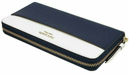 NWT Kate Spade Large Continental Wallet Navy Saffiano Leather Ziparound ... - $74.99