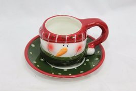 Snowman Xmas 4 Cups and 4 Saucers image 6