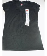 Girl's Size Small 6-6X Hanes Solid Black V Neck Tee T Shirt Top New - $10.00