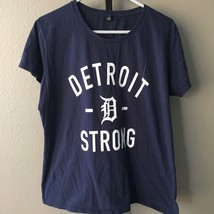 Detroit Strong Women's T Shirt Sz XL Navy Blue - $11.16