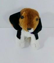 "Nintendog plush beagle Black white Brown puppy dog purple bandanna 2008 6"" - $3.95"