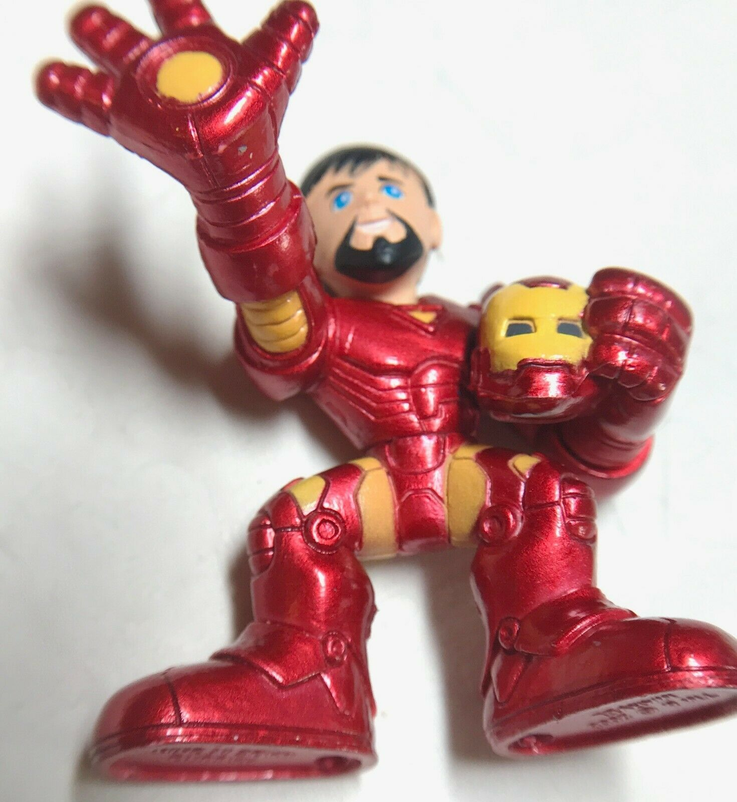 Marvel Super Hero Squad Iron Man Holding Helmet 2008 image 2