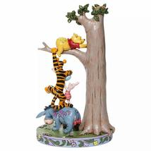 """Jim Shore """"Hundred Acre Caper """" Winnie the Pooh, Tigger, Eeyore, Piglet in Tree image 4"""
