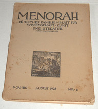 MENORAH Judaica Rare Illustrated Monthly for the Jewish Home August 1928 Austria