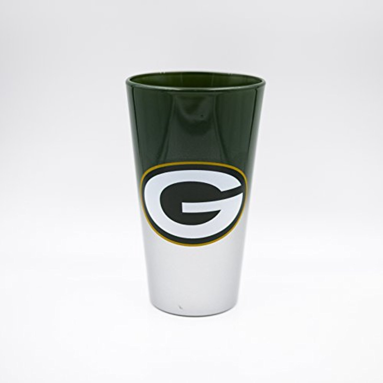 NFL Green Bay Packers Color Chrome 17 oz. Pint Glass Tumbler